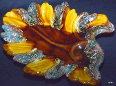 "Vallauris. Large Vase-tray ""Leaf"""