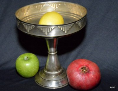 "Silvering fruits vase ""Art Deco"""