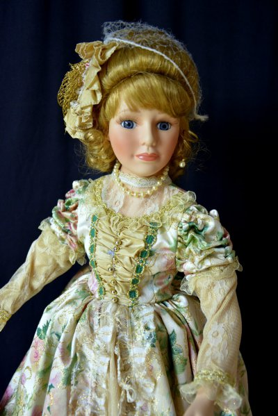 Doll in Victorian clothes
