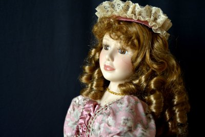 "Doll ""Mademoiselle in Hat"""