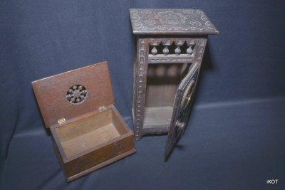 "Set of wooden boxes ""Breton style"""