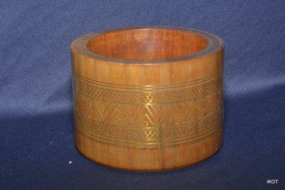 "Wooden pencils holder ""Brass inlay"""