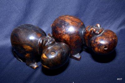 Деревянные фигуры «Африканские Бегемоты»
