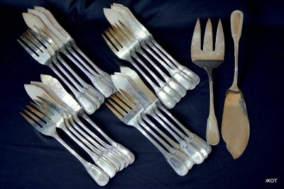 F.Francois Serving set for fish Poisson