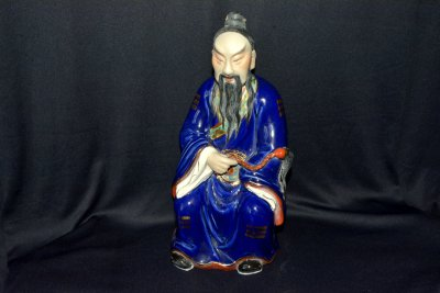 "Statuette ""Chinese with Fly-whisk"""