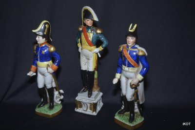 Capodimonte Napoleon and army officers